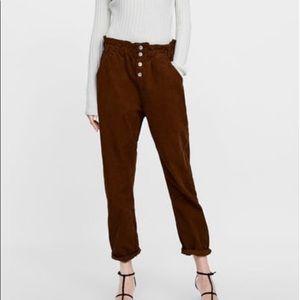 Zara Baggy Corduroy Pants